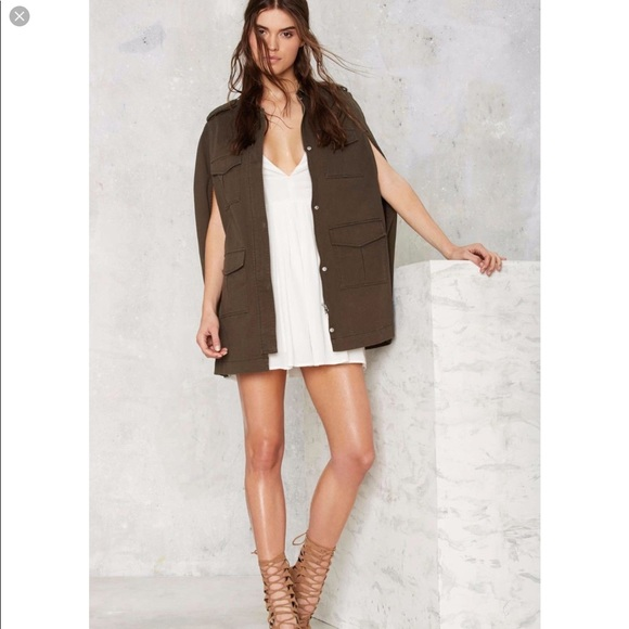 Femme In Charge Cape Jacket Nwt